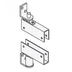 """Bommer 7514-H Steel Box Clamp Door Bracket to fits 3/4"""" Thick Door, Double Acting, Gravity Pivot with Hold-Open"""