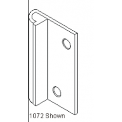 Bommer 1072 Brass Door Stop, Mount on Jamb Edge, Rubber Bumper on Stop