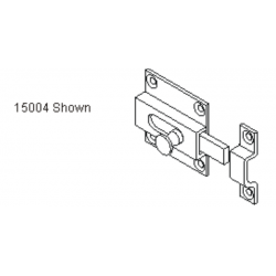 """Bommer 15004 SLIDE LATCH and KEEPER, Brass Surface Mount, 3/4"""" Throw"""