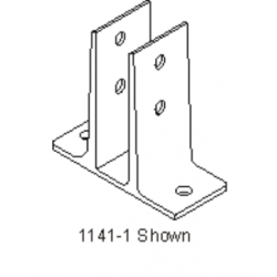 """Bommer 1141-1 Mounting Bracket, Double Flange Brass Casting, Fits 3/4"""" Partition Only"""
