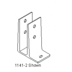 """Bommer 1141-2 Mounting Bracket, Single Flange Brass Casting, Fits 3/4"""" Partition Only"""