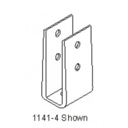 """Bommer 1141-4 Mounting """"U"""" Bracket, Brass Casting, Fits 3/4"""" Partition Only"""
