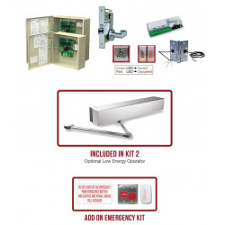 Command Access UBPK2-SM-EUxEU Electrified Latch Pullback, Universal Bathroom Privacy Kit
