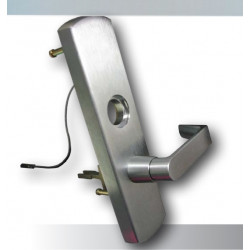 Command Access V96 Von Duprin 996L R/V & M Series Exit Tirm, Satin Chrome Finish Complete Lock-Request to Enter Switch Installed