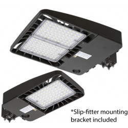 Energetic Lighting E3SBH LED Area Light, Shoe Box w/Photocell, 3 Pin, Bronze, High Voltage (347- 480Vac)