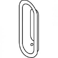 "Trimco 248 Flush Pull, 1-1/2"" x 4"""