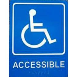 """Trimco 751 8"""" Square - Handicap Signage, Braille"""