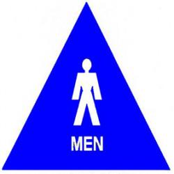 """Trimco 753 12"""" Triangle – Men Signage"""
