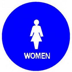 "Trimco 754 12"" Circle – Women Signage"