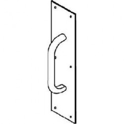 """Trimco 1013 Series 3/4 Round Pull Plate, 4"""" x 16"""""""