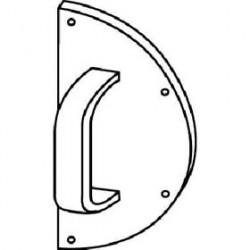 Trimco 1056-4 Half-Round Pull Plate