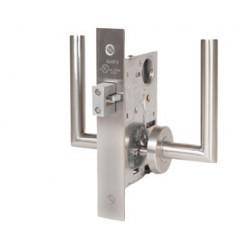 Trimco 1074-2CE Barn Door Latchset, Mortise, Constant Locking