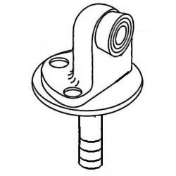 "Trimco 1214CK x 1268CK Floor Stop & Anchor Plate, 2-1/4"" High with Torx Screws"
