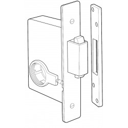 Adams Rite 2331 Heavy Duty Deadbolt for Heavy Duty Wood or Hollow Metal Applications
