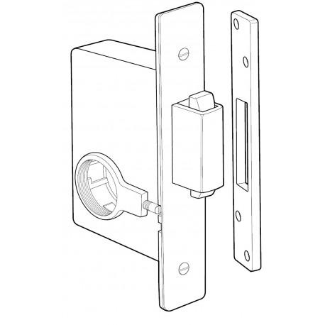 Adams Rite 2331 Heavy Duty Deadbolt for Heavy Duty Wood or Hollow Metal Applications