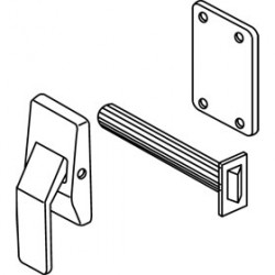 Trimco 1562AE Push/Pull Latch, Tubular, Exit Only, Paddle Down