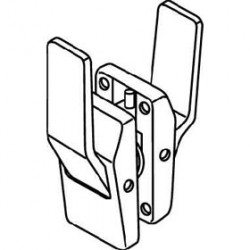 Trimco 1563A Push/Pull Latch, Tubular, Passage, Levers Up