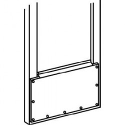 "Trimco KH050 Kick Plate, .050"", To Cover Glass on Narrow Stile Aluminum Doors"