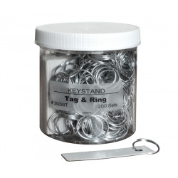 KeyStand 200-TWR Tag and Ring, 200 sets