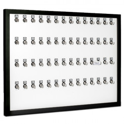 KeyStand 56-MWF Framed Bolted Metal Hook with Number Plate and Hidden Hangers for Executive Office