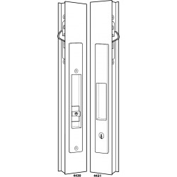 Adams Rite 4430 & 4431 Flush Locksets for Sliding Doors Including Deadlock