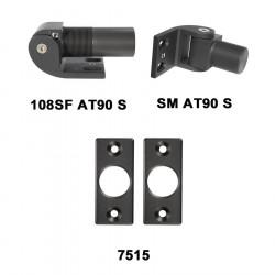 D&D 7710822 SureClose Hinge/Closer Kit - 108SF AT90, Flush Mount Brackets