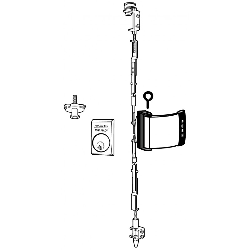 Adams Rite 4781 Two Point Deadlatch With Paddle For Paired