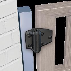 D&D TCA2S3BT TruClose Regular for Metal to Wood Gates, Color-Black