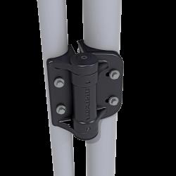 D&D TCHDRND1-MK2 TruClose Round Heavy Duty Hinge, Color-Black