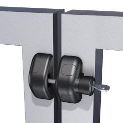 D&D MLSPS2L MagnaLatch Series 2 - Side Pull, Locking, Color- Black