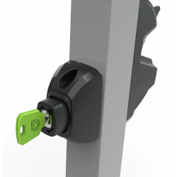 D&D LLA3PW LokkLatch 3 Plus, Pedestrian & Privacy Gate Latch