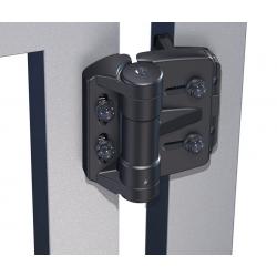 D&D TCAMA1 TruClose Mini Multi-Adjust Regular Hinge, Color-Black