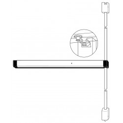 Adams Rite 8200 Series Life-Safety Narrow Stile Surface Vertical Rod Exit Device