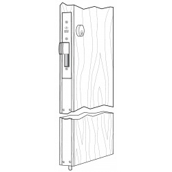 Adams Rite MS1837 Series MS&reg Two-Point Deadlock for Wooden Door