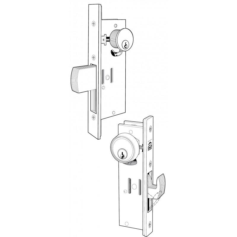 Adams Rite Manufacturing Deadlock W// Hooked Bolt MS1850S-250-628