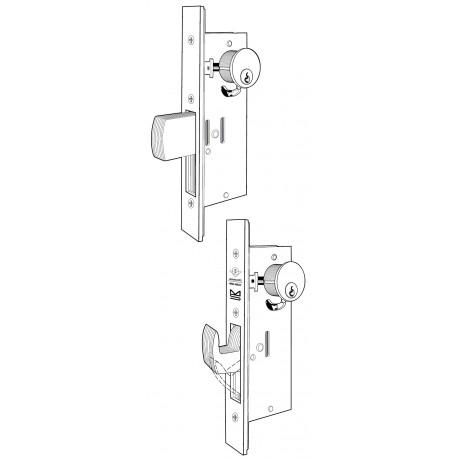 Adams Rite MS1850SN ANSI Size Deadlock for Hollow Metal / Wood Doors