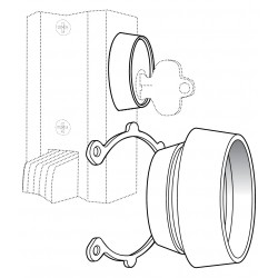 Adams Rite MS4043 Cylinder Guard Vandalism Cylinder Protection