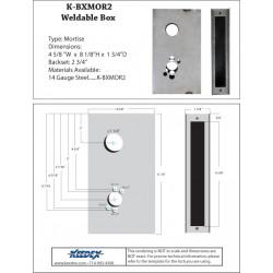 Keedex K-BXMOR2 Mortise Box-Corbin/Russwin 5000 & ML2000, Falcon M, Best 34-37H