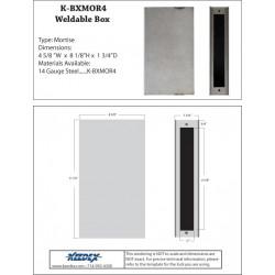 Keedex K-BXMOR4 Mortise Lock Box - No trim hole - No cylinder hole
