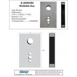 Keedex K-BXMOR6 Mortise Box - Marks 22AC 14 Gauge Steel