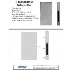 Keedex K-BXMOR Mortise Box-No Trim Hole, No Cylinder Hole. Prep Offset