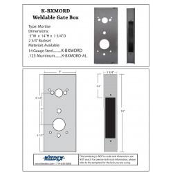"""Keedex K-BX 14"""" Gate Box Mortise DormaKaba 79RT, 79B, 760, 770, E2000 Mortise"""