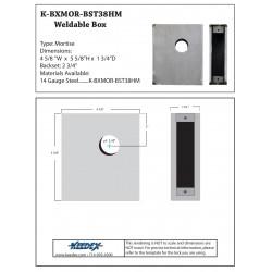Keedex K-BXMOR-BST38HM Gate Box for Best Mortise Deadlock 38HM
