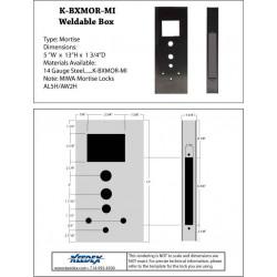 Keedex K-BXMOR Gate Box Miwa Mortise Lock Mortise