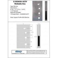 Keedex K-BXMOR-SGTP Mortise Box Sargent Pro Series 14 Gauge Steel