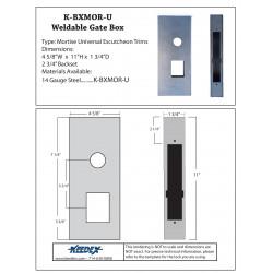 Keedex K-BXMOR-U Mortise Box for Universal Electronic Applications 14 Gauge Steel