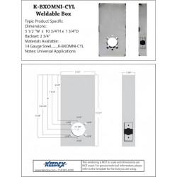 Keedex K-BXOMNI-CYL Weldable Box-OSI Omnilock® OM100, OM300 & OM500 Cylindrical Lock