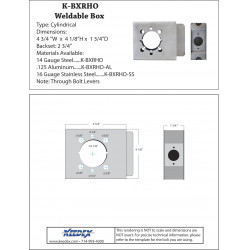 Keedex K-BXRHO Lock Box - Schlage® Rhodes & many other lever sets Cylindrical