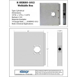 "Keedex K-BXRHO-1012NS Oversized 10""x12"" Lock Box - No Stop"