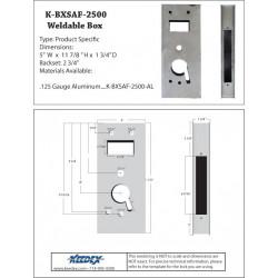 Keedex K-BXSAF-2500-AL Alum Lock Box - Computerized Security- Saflok® 2500 Classic